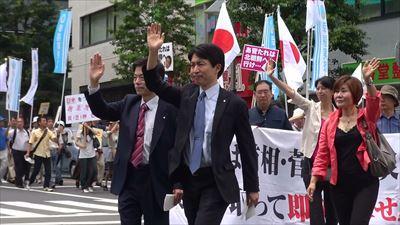菅首相の地元 吉祥寺で退陣要求デモ