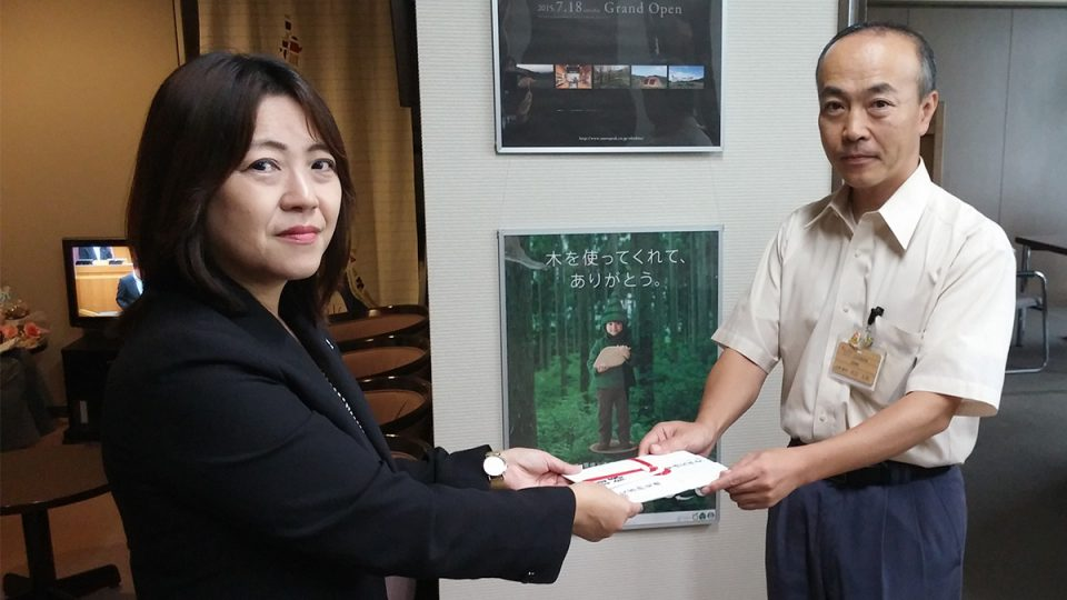 大分県日田市に第3次義援金を寄付