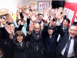 栃木県下野市議選 石川のぶおさん当選!