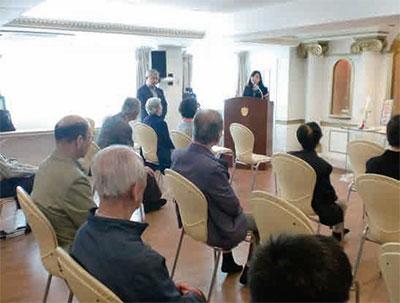 ソウル市民の皆様との集会にて。温かい雰囲気に包まれました。