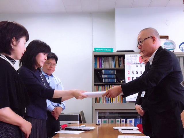 幸福実現党 長崎県本部が陳情書・署名を提出