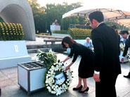 広島市で講演・原爆の日式典に参列
