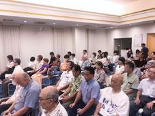 沖縄市にて金城タツローを激励
