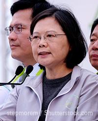 台湾の蔡英文総統。