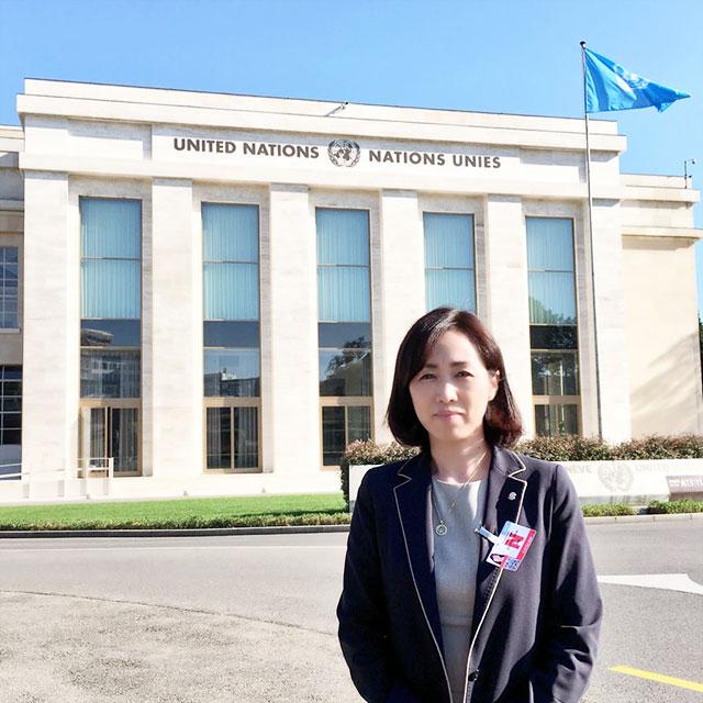 幸福実現党の釈量子党首と及川幸久外務局長が、スイス・ジュネーブで行われた国連の人権理事会の事前セッションに参加しました。