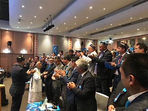 フランス・パリで9月28日に行われた「東トルキスタン会議」の設立大会。