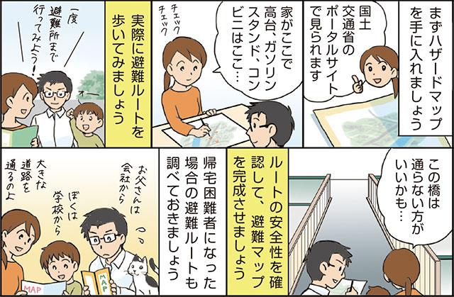 「わが家の避難マップ」を作成しよう!