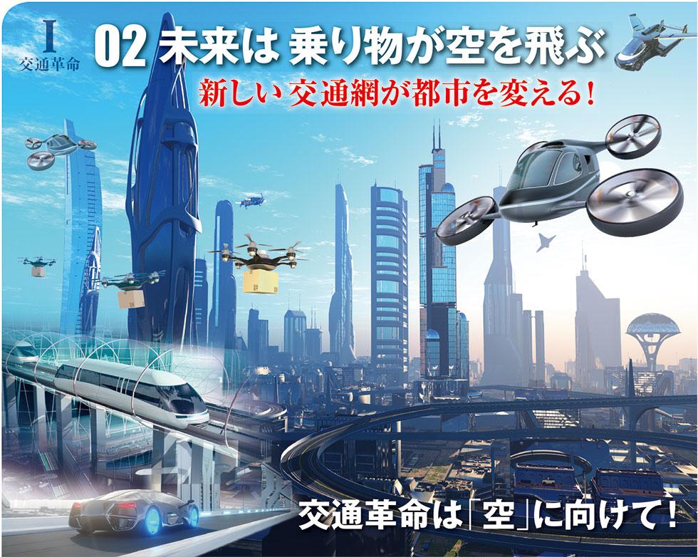 未来は乗り物が空を飛ぶ
