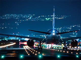 夜中から海外出張へ Take off!